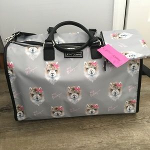 Betsey Johnson Llama Weekender Travel Bag